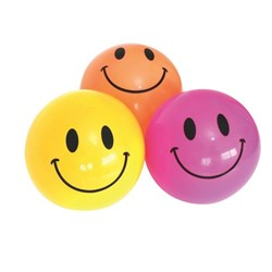 Smiley Face Playball 20cm Assorted Colours