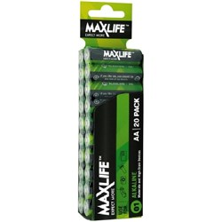 Maxlife AA Alkaline Batteries, Pack of 20