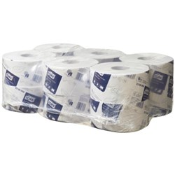 Tork T2 Advanced Mini Jumbo Toilet Tissue 2 Ply, Carton of 12