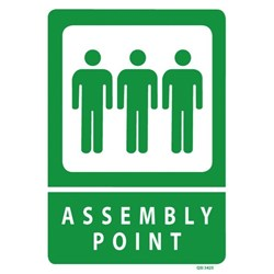 Assembly Point Safety Sign 240x340mm
