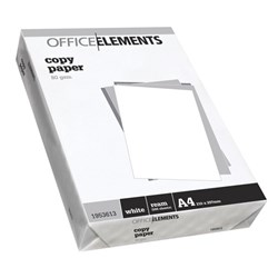 Office Elements A4 80gsm White Copy Paper, Pack of 500