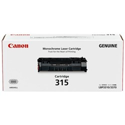 Canon CART315 Black Laser Toner Cartridge