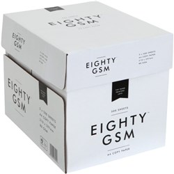 Eighty GSM A4 80gsm White Copy Paper, 5 Packs of 500