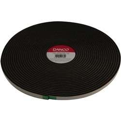 Danco 77 PVC Foam Tape 12mm x 15.2m Black