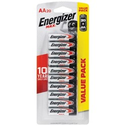 Energizer Max AA Batteries, Pack of 20