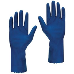 Ansell 354X Premium Rubber Gloves Size 8 Blue, Pair