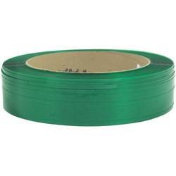 PET Strapping Embossed 15.5x1.0mmx1100m Green 650kg