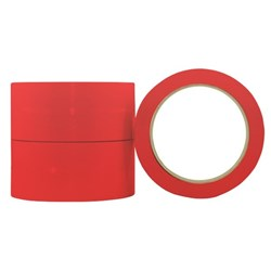 Vinyl Tape S350R Red 36mm x 66m, Carton of 24 Rolls