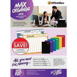 Max Organise Catalogue 2020