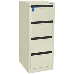 Europlan 505W Forte Filing Cabinet 4 Drawer Silver Quill