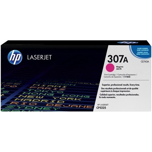 HP 307A Magenta Laser Toner Cartridge CE743A